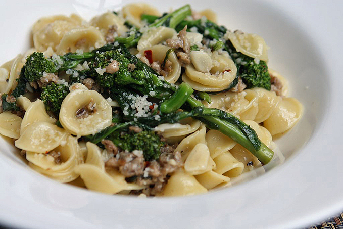 ... Orecchiette With Sausage And Broccoli Rabe Recipes — Dishmaps